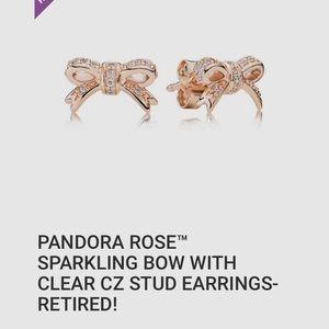 Pandora Rose Bow Earrings